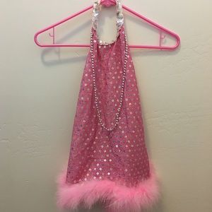 Pink Dress Up Costume Dance Outfit OS